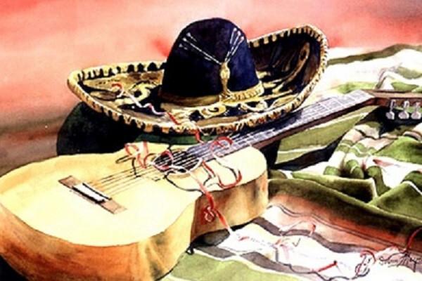 Испанская гитара в дуэте с органом