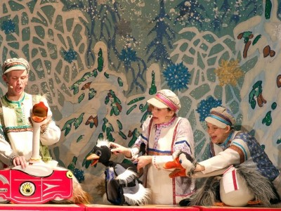 Зимняя сказка про гусей
