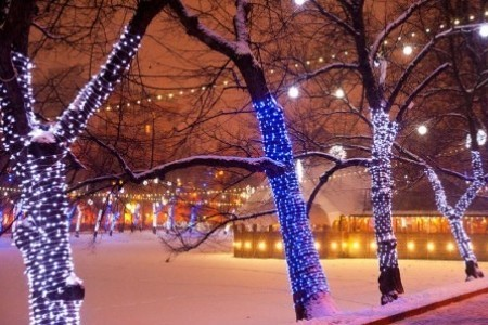 Новогодняя ночь на улицах города