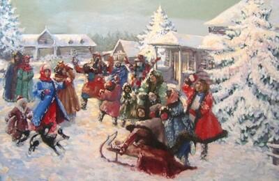 Праздник Рождества. Картины старинных народных игр и обрядов