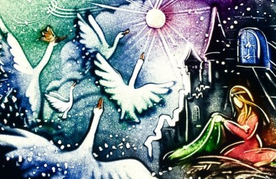 Сказки Андерсена: «Дикие лебеди». Квартет «Мелодион» и песочная анимация